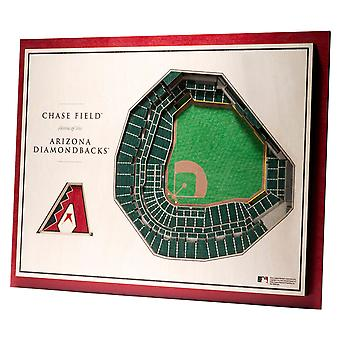 YouTheFan hout muur decoratie stadion Arizona Diamondbacks 43x33cm