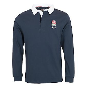 England RFU Rugby Kids Long Sleeve Rugby Shirt | Navy