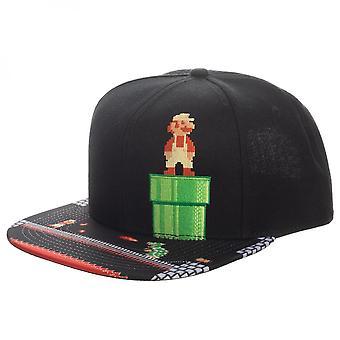 Super Mario 8-bit Bill SnapBack hoed