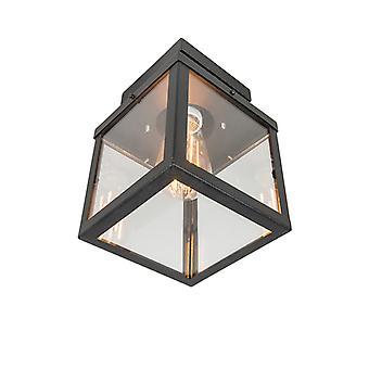 QA-QA Industrial lampada da soffitto esterna nero 1 luce - Rotterdam