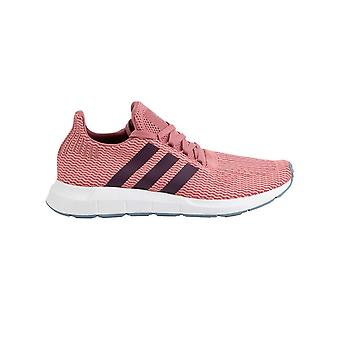 Adidas Womens Swift Runn stof lage top Lace up mode sneakers
