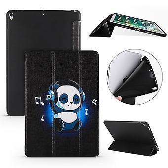 For iPad Air 3 (2019) Case,Folio PU Leather+TPU 3-folding Cover,Panda's Harmony