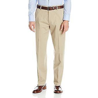 Dockers Men's Comfort Khaki Stretch Relaxed-Fit Flat-Front, Tan, Size 34W x 34L