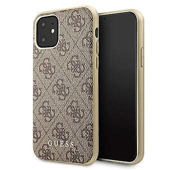 מניח כיסוי קשיח מקרה מגן עבור iPhone של אפל 11 בראון לוס אנג'לס לחפש מקרה תיק