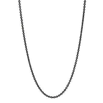 Stainless Steel Cable 1.4mm Black Lobster Claw Clasp Necklace Jewelry Gifts for Women - Length: 16 to 24