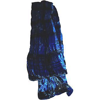 Tartan Seide samt Kollektion Schal von Ladycrow Schottland - Royal Blue