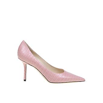 Jimmy Choo Love85cclpink Women's Pink Leather Pumps
