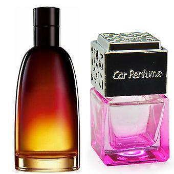 Christian Dior Fahrenheit For Him Inspired Fragrance 8ml Pink Bottle Chrome Lid Car Air Freshener Vent Clip