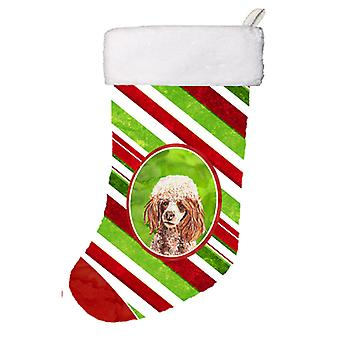 Red Miniature Poodle Candy Cane Christmas Christmas Stocking