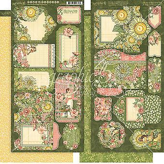"Garden Goddess Cardstock Die - Cuts 6""X12"" Sheets 2/Pkg - Tags & Pockets"