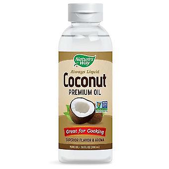 Huile de prime liquide de noix de coco du chemin de la nature, 10 oz