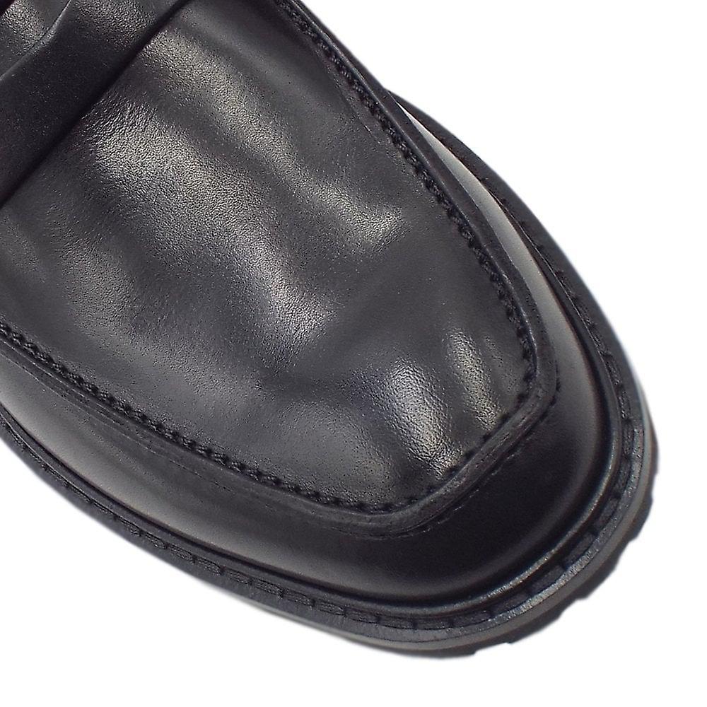 ECCO 640334 Vitrus I Penny Saddle Loafer en noir