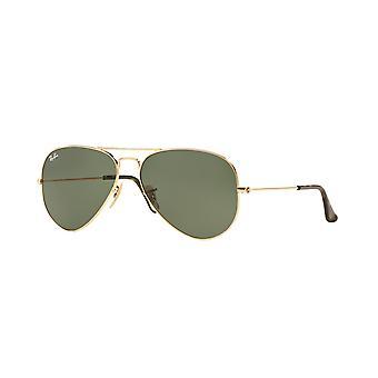 Ray-Ban Aviator RB3025 181 Guld/Mörkgröna solglasögon