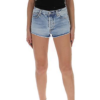 Heron Preston Hwyc002r206410017319 Women's Light Blue Cotton Shorts