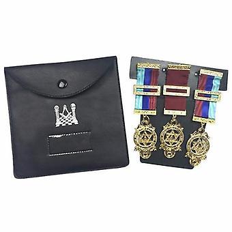 Laatu vapaamuurarien regalia tasku koru haltija / lompakko vapaamuurarien kantolaukku - keskipitkällä