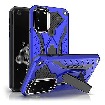 For Samsung Galaxy S20 Case, Armour Strong Shockproof Tough Cover with Kickstand, Blue