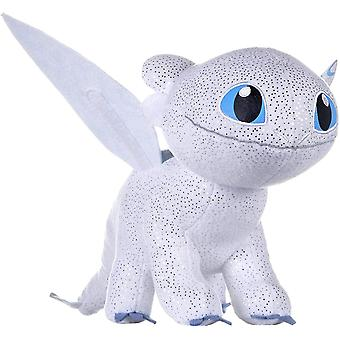How To Train Your Dragons 3 Light Fury Soft Toy Dark Features 32cm