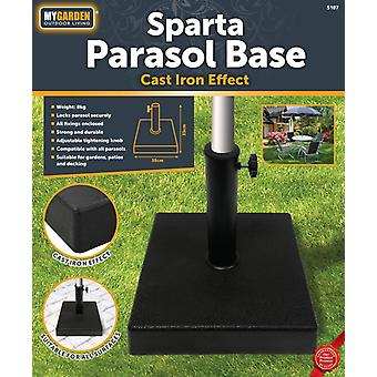 My Garden 8kg Parasol Base Square Heavy Duty Resin Patio Shade Umbrella Holder
