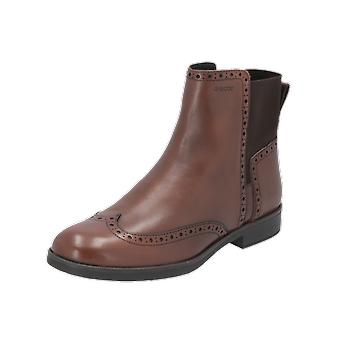 Geox JR AGATA Kids Girls Boots Brown Lace-Up Boots Winter