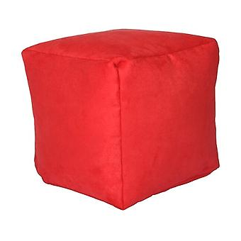 Seat cube Alka red size 40 x 40 x 40 with filling