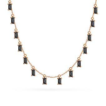 Naszyjnik Szmaragdowe kropelki z kamienia 18K Gold - Ruby | Szmaragdowa | szafirowa | Czarny Diament - Żółte Złoto, Szafir