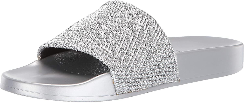 Katy Perry Kobiety's Jimmi Flat Sandal srebrny 5 Średni USA fdHaG