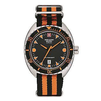 Swiss Alpine Military Men's Watch Analog Quartz 7066.1639SAM NAVO-armband