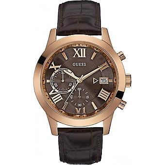 כנראה W0669G1 קוורץ עם עור הכרונוגרף קוורץ גברים ' s שעון