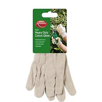 Ambassador Adult Unisex Heavy Duty Cotton Gloves