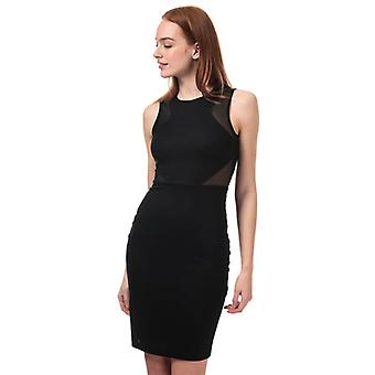 Women's French Connection Manhattan Mesh Panelled Dress in Black