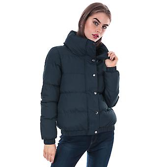 Women's Brave Soul Slay Padded Funnel Neck Jacket in Blue