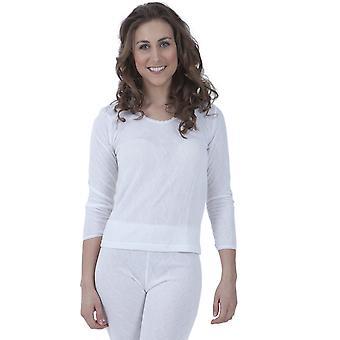 Damen/Damen Thermal tragen Langarm T Shirt Polyviscose Bereich (Britisch gemacht)
