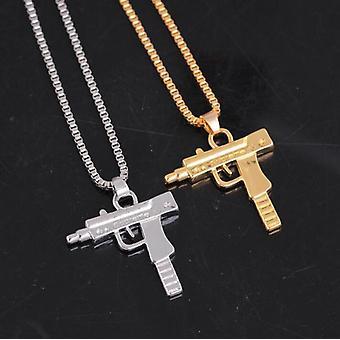 Corrente banhada a ouro com armas de fogo