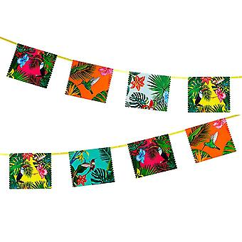 Tropical Party Garland Bunting Decoration 4m