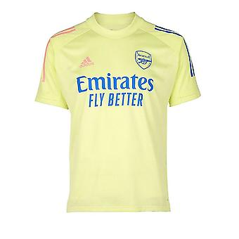 2020-2021 Arsenal Adidas Training Shirt (Yellow) - Kids
