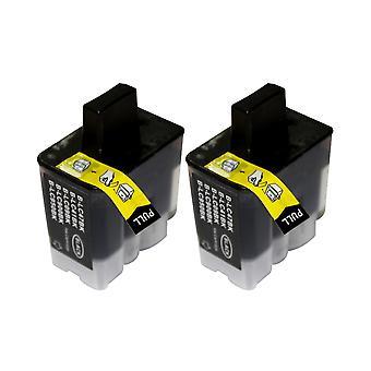 RudyTwos 2 x reemplazo de unidad Brother LC-900BK tinta negro Compatible con DCP - 110C, DCP - 111C, DCP - 115C, DCP - 117C, DCP - 120C, DCP-310, DCP-310CN, DCP - 315C, DCP-315CN, DCP-340CN, DCP-340CW, Fax-1835, F