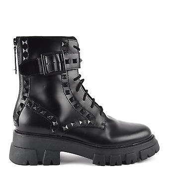 Ash LEWIS STUDS Black Leather Boots
