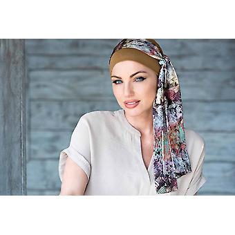 Yanna Camel Snake Print Sjaal