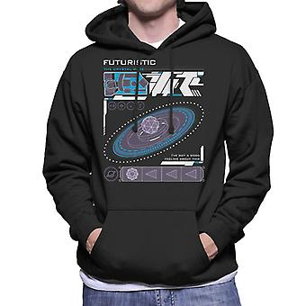 The Crystal Maze Futuristic Interface Solid Men's Hooded Sweatshirt