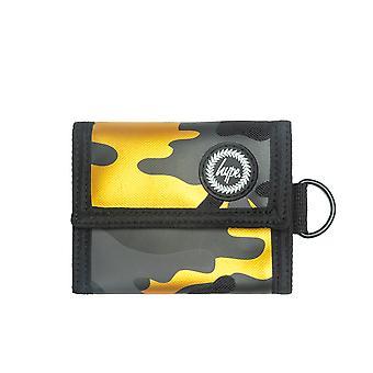 Hype Trifold Wallet Money Card Coin Holder Purse Gold Camo