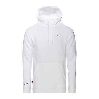 2020-2021 PSG Fleece Hoody (Vit)