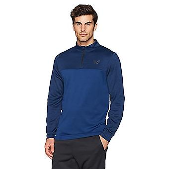 Peak Velocity Men's Quantum Fleece 1/4 Zip Athletic-Fit Top, victoire bleu hea...