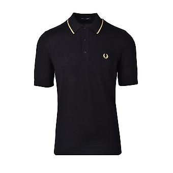 Fred Perry Tipped Tricotd Shirt Noir
