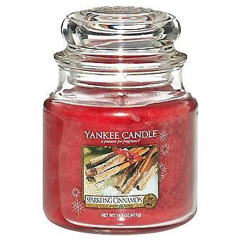Jenkkikynttilä kuohuviini kaneli medium purkki kynttilä