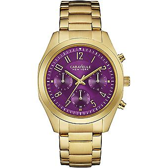 Caravelle Watch 44L200 - Plated Stainless Steel Ladies Quartz Chronograph