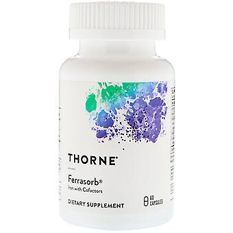 Thorne Research, Ferrasorb, Iron with Cofactors, 60 Capsules
