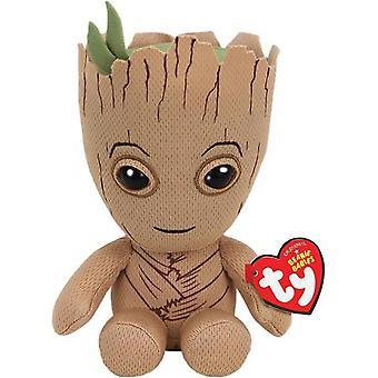 Ty Beanie Baby's Marvel Comics Groot zacht stuk speelgoed