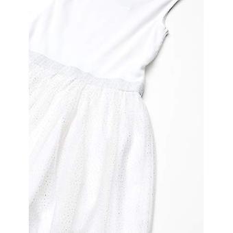 Brand - Spotted Zebra Girl's Tutu Tank Dress, White Sparkle, Small (6-7)