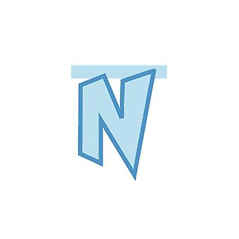 Linking Banner 20cm Baby Blue Letter - N Party Decoration