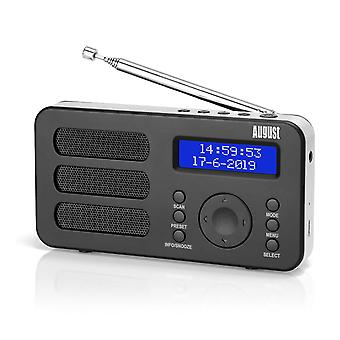 Portable Digital Radio MB225 DAB DAB+ FM RDS Function with Dual Alarm StereoMono Speaker Rechargeable Battery with LCD (MB225)